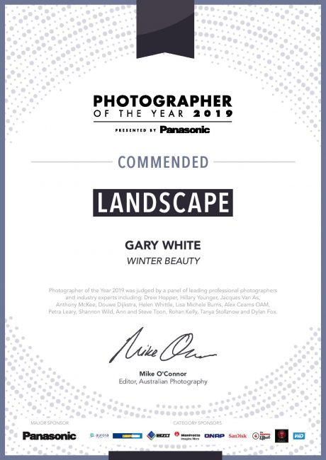 Photographer of the Year 2019 presented by Panasonic Winter Beauty Landscape Photography Gary White